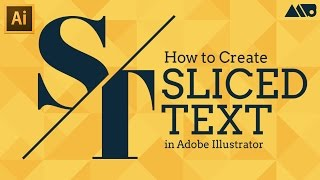 How to Create Sliced Text in Adobe Illustrator Tutorial