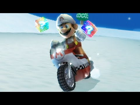Mario Kart Wii - 150cc Silver Mushroom Cup Grand Prix (Fire Mario Gameplay)