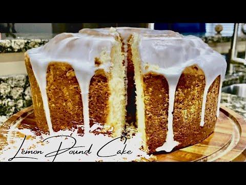 MOIST LEMON POUND CAKE RECIPE   DESSERTS