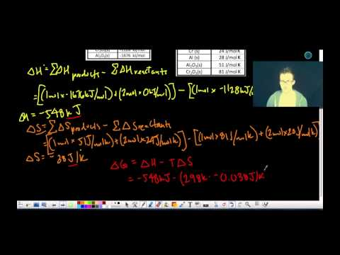 Entropy and Gibbs Free Energy Guided Practice #5-7