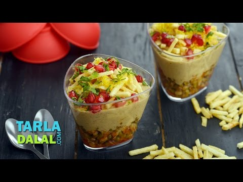 Moong Sprouts and Potato Salli Chaat by Tarla Dalal