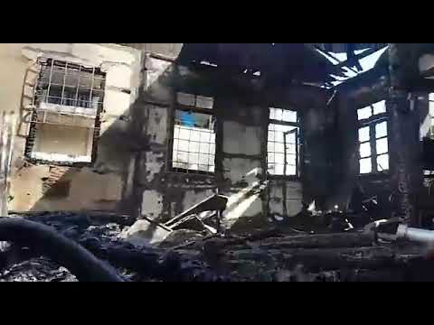 Fire ravaged ADP office, Freetown, Sierra Leone!