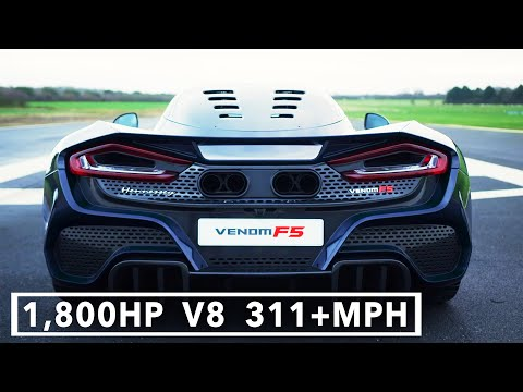 $2M Hennessey VENOM F5 (2021) America's 1,800HP, 311+MPH Hypercar to fight the Bugatti Chiron