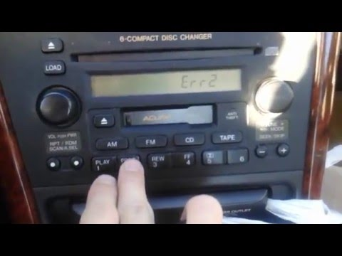 1999-2003 Acura 3.2TL Radio Error Code Repair