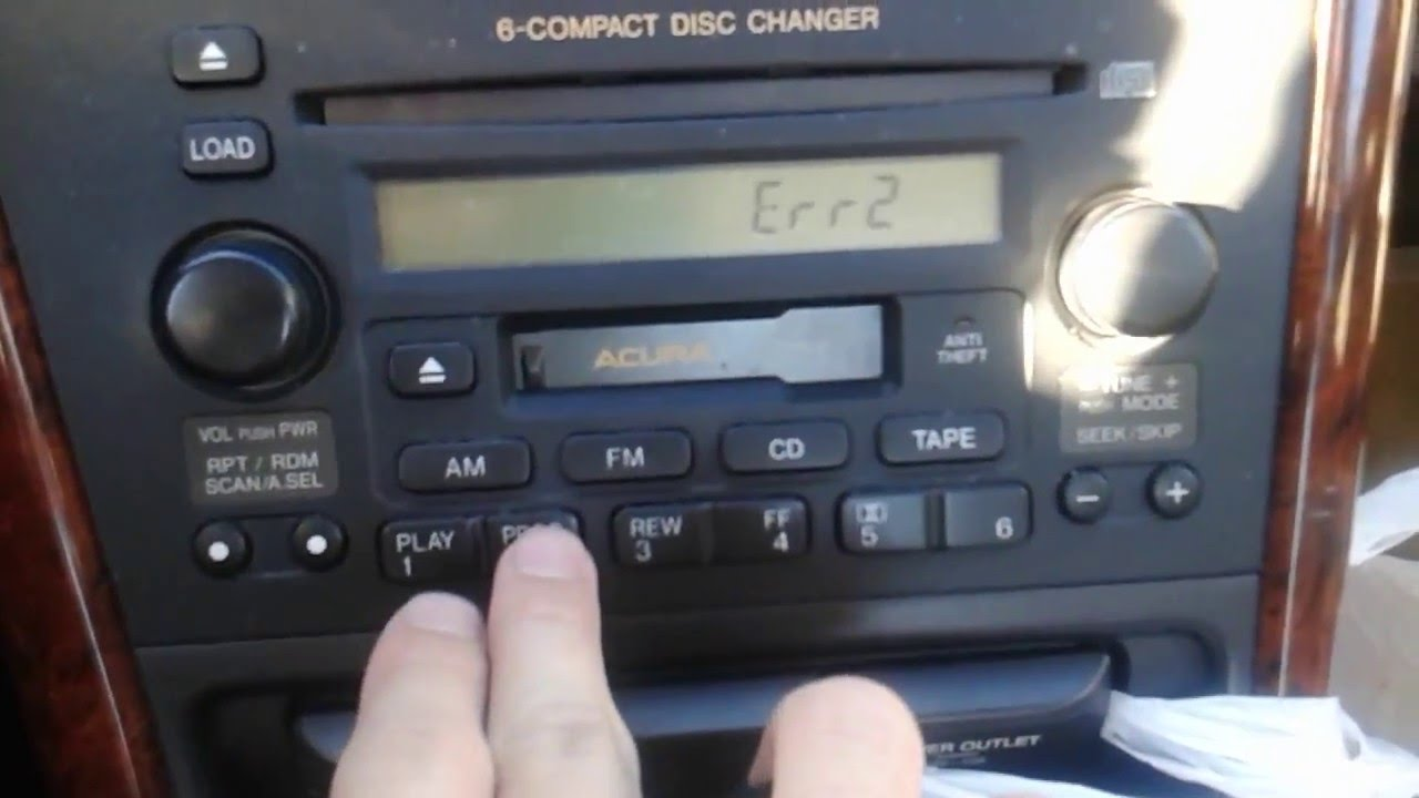 1999 2003 Acura 32tl Radio Error Code Repair Youtube 2000 Tl Antenna Wiring Diagram