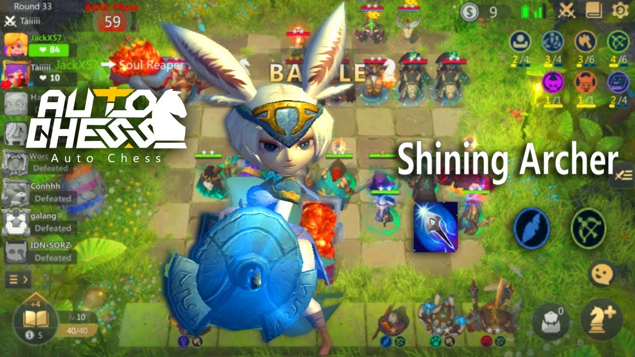 Auto Chess Mobile - Shining Archer Update Gameplay Hunter Warrior Team  Build Guide