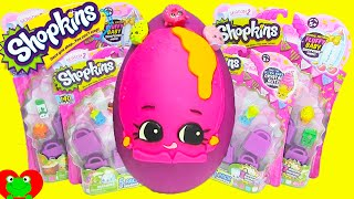 Shopkins Season 2 Donna Donut Play Doh Surprise Egg with Pamela Pancake and Honeeey