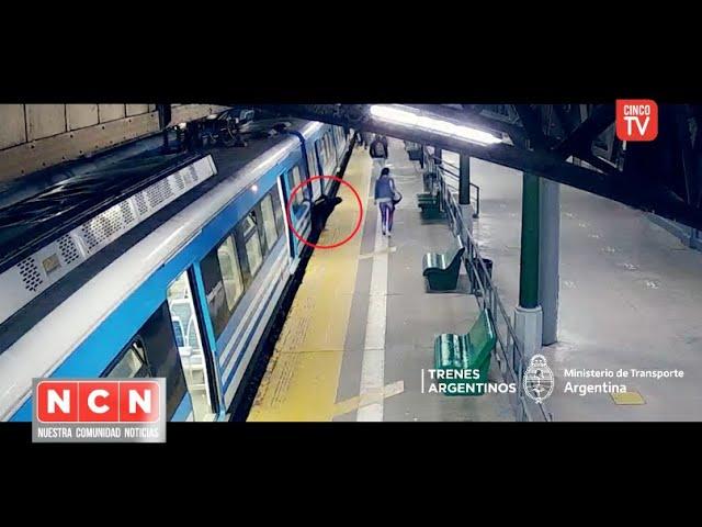 CINCO TV - Intentó escapar entre los trenes pero fue aprehendido