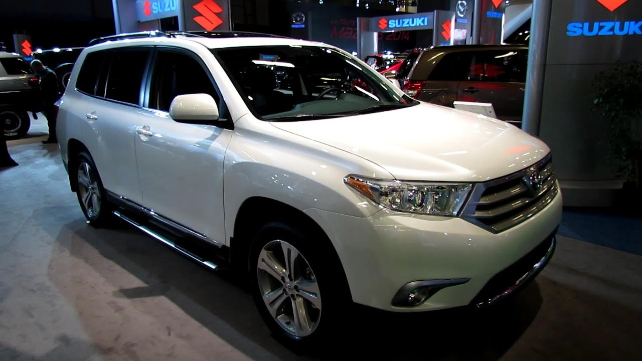 2013 Toyota Highlander 4WD V6   Exterior And Interior Walkaround   2013  Montreal Auto Show   YouTube