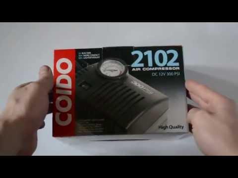 Распаковка автомобильного компрессора COIDO 2102