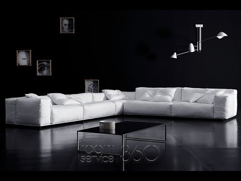 Low Back Sectional Sofa