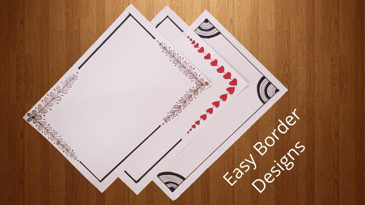 To revisit this article, select my account, thenview save. 3 Easy Border Designs For Project Work Project Work Border Designs For School Paper Border Designs Youtube