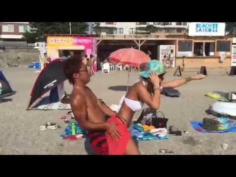 【セクシーパリピ♪】夏の海で水着mimimiダンス♪カップルでSEXYmimimiダンス♪