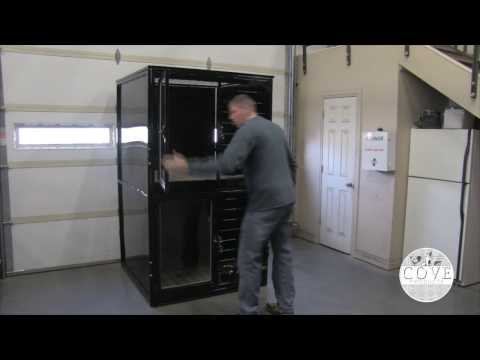 Double Stack Kennels, cage banks or stackable dog kennels by K9 Kennels