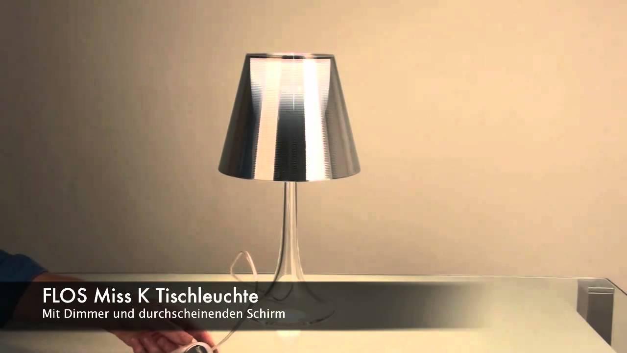 flos miss k tischleuchte mit dimmer licht design skapetze youtube. Black Bedroom Furniture Sets. Home Design Ideas