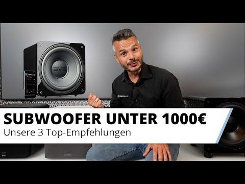 Unsere 3 besten Subwoofer unter 1.100,- Euro