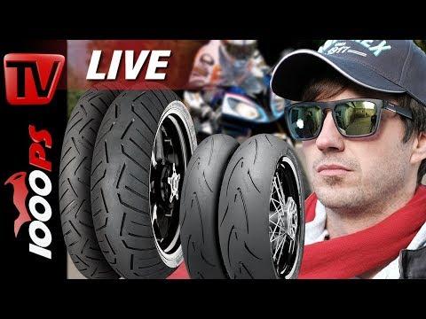 Motorradreifen Beratung - Der richtige Motorradreifen für dich -1000PS Live mit Conti