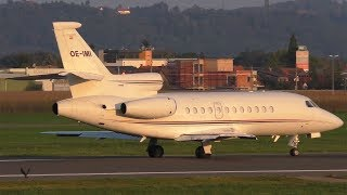 Avcon Jet Dassault Falcon 900EX takeoff at Graz Airport | OE-IMI