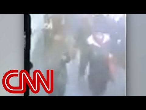 Camera shows moment of New York subway blast