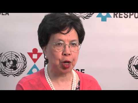 "Margaret Chan: ""The courage of leaders, health workers and responders is what inspires us."""