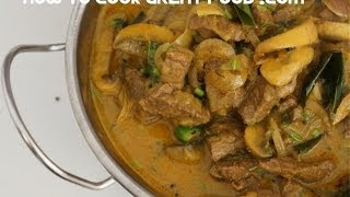 Beef Mushroom & Coconut Curry Recipe - Super easy Indian food