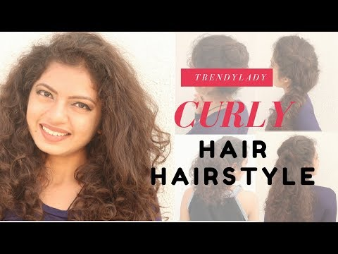6 Easy Curly Hair Hairstyle   Short & Curly Hair Hairstyle
