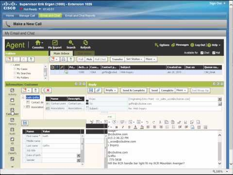 Agent Email And Chat Demo - UCCE 10.5