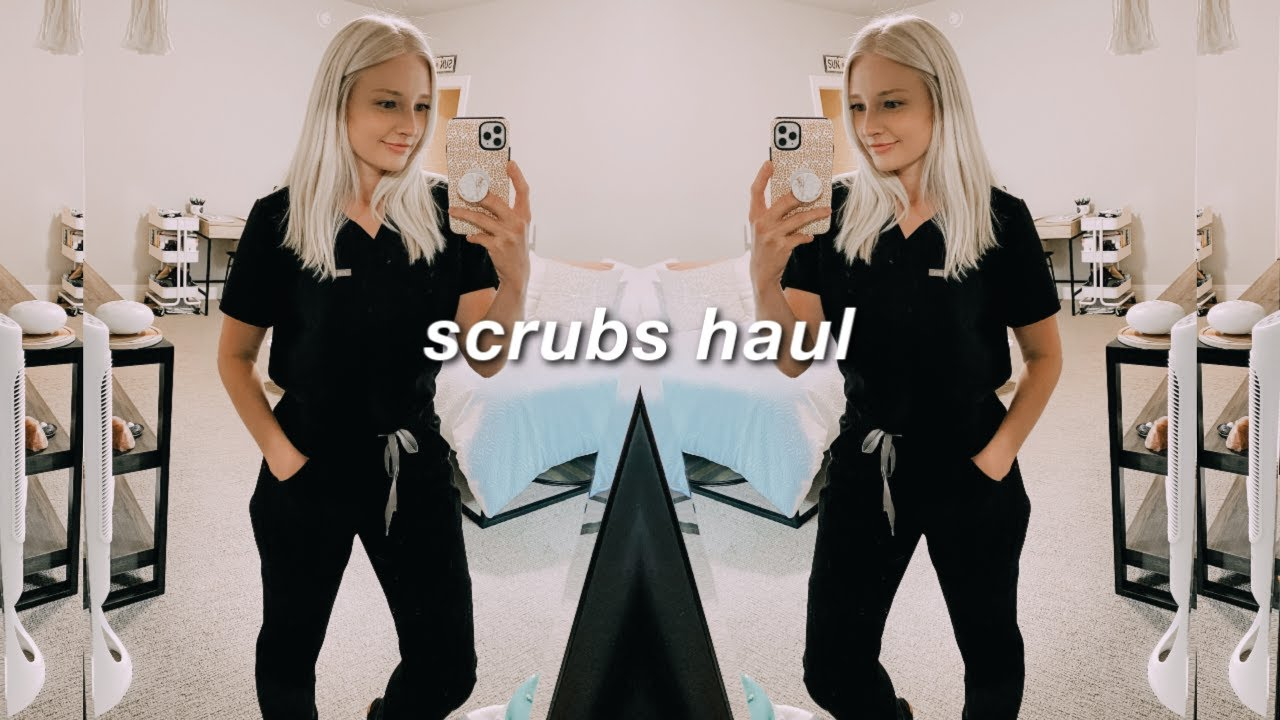 scrubs try-on haul: Figs, Vessi, MedCouture, Apple Watch band