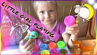 Лепим животных из Play Doh.Видео для девочек.Набор Пластилин Kids Dough из Детский Мир Уфа