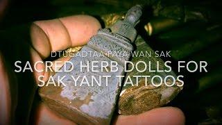 Dtugadtaa Paya Wan Sak Yant Magic Tattoo Doll