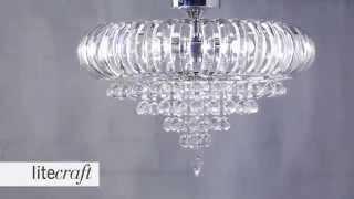 June 3 Light Semi Flush Ceiling Light - Chrome| Litecraft - Lighting Your Home