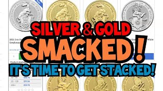 Gold & Silver Price Smacked! Buy the Dip!  Bullion Deal Alerts Here!  Shopping with The Bean!