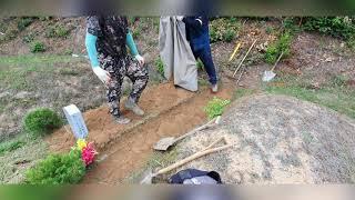 공원묘지 사초 산소관리…
