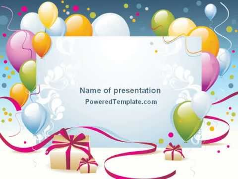 Greeting Card Powerpoint Template By Poweredtemplate Com Youtube