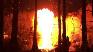 """""""Swamp Thing"""" films explosion at Greenfield Lake"""