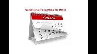 Conditional Formatting for dates in Microsoft Excel