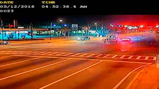 Police Car High Speed Crash at Intersection
