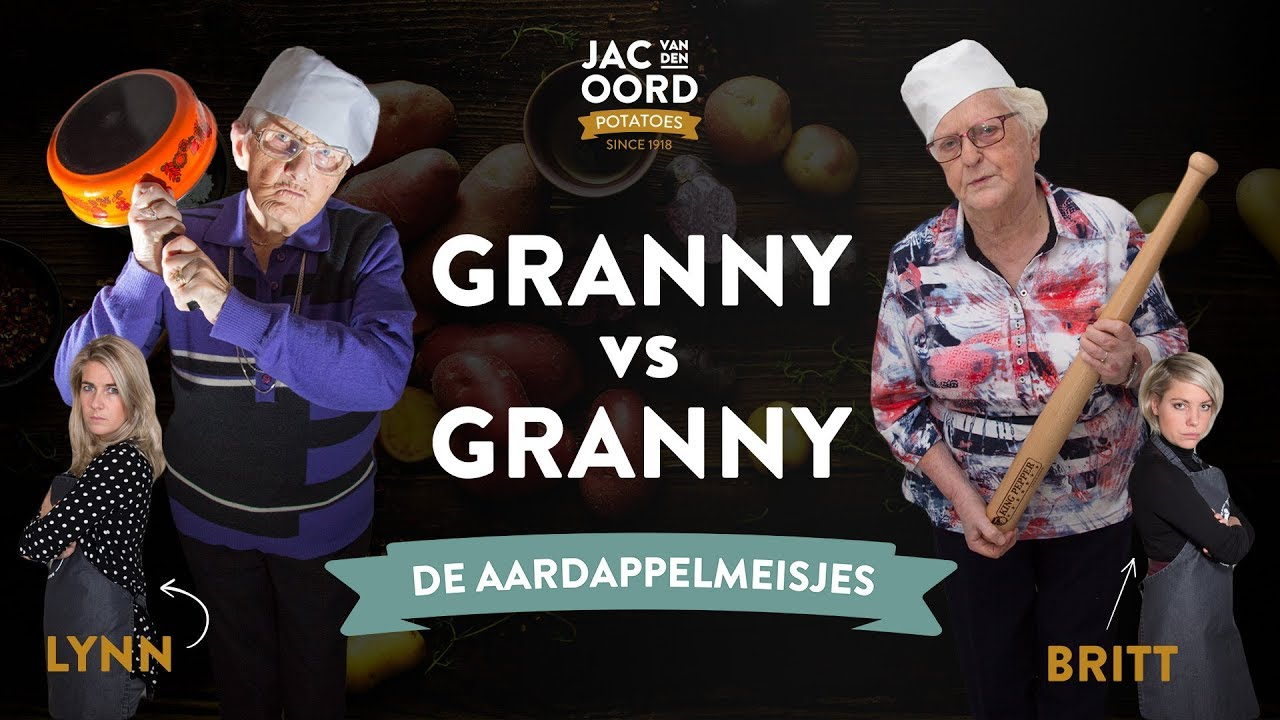 Granny vs Granny: Aardappels bakken | Oma Gerdie