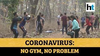 Coronavirus: With gyms closed, fitness enthusiasts train in open areas in small groups