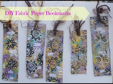How to make bookmarks from fabric paper /tutorial
