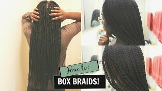 how i do my own box braids waist length braids    missvalarie