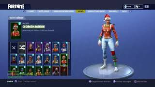 Sell my Fortnite account with Christmas skins