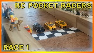 RC Pocket Racers - Tiny Remote Controlled Cars - Race 1