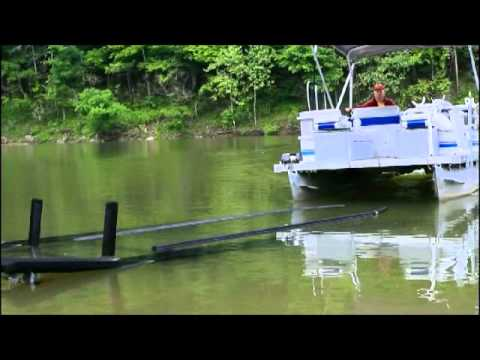 Pontoon Guide Rails Youtube