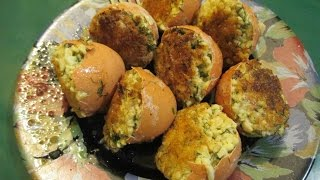 Фаршированные яйца в скорлупе. Удивительный рецепт. // Олег Карп