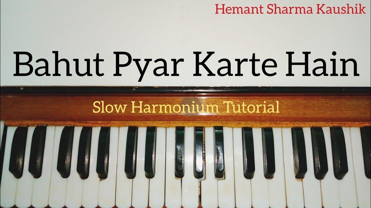 Bahut Pyaar Karte Hain Tumko Sanam Notes Sargam | Harmonium