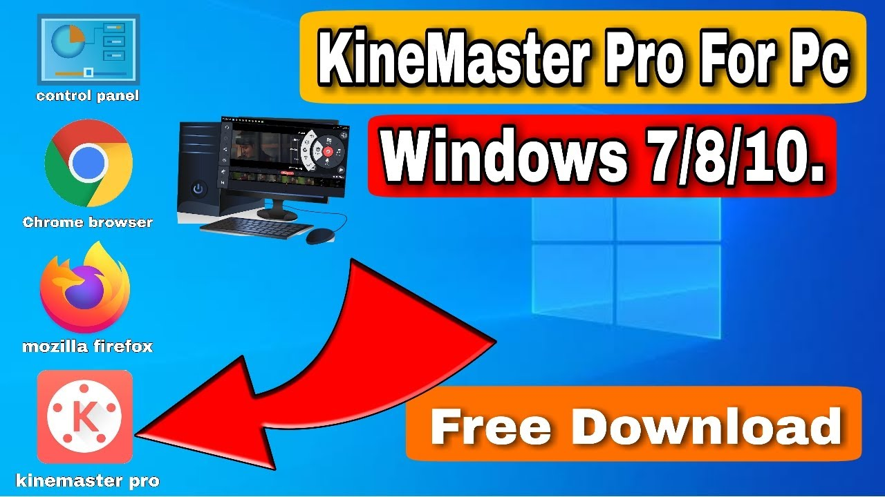 How to Install KineMaster For PC Windows 7 8 10 Free Download Easy Way in hindi 2020
