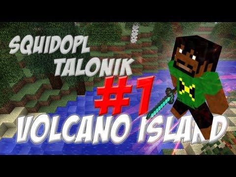 Minecraft Volcano Island (PL) part 1 - Pierwsza kopalnia