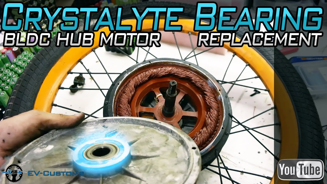 Download Crystalyte BLDC Hub Motor Bearings Replacement after 10,000km (Stealth E-Bike)