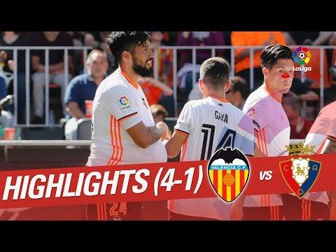 Resumen de Valencia CF vs Osasuna (4-1)